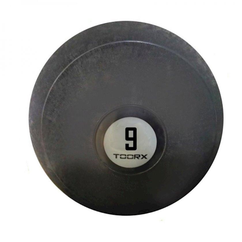 Fitbol Toorx SLAM BALL, sıçrayışa qarşı müdafiə, 23 sm, 9 kq, qara