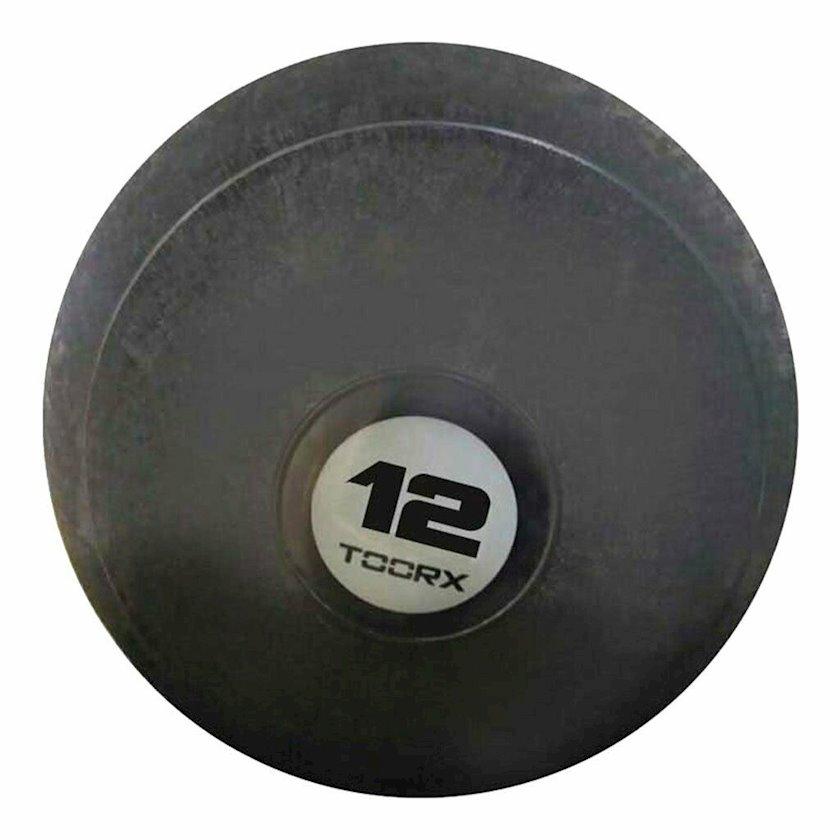 Fitbol Toorx SLAM BALL, sıçrayışa qarşı müdafiə, 28 sm, 12 kq, qara