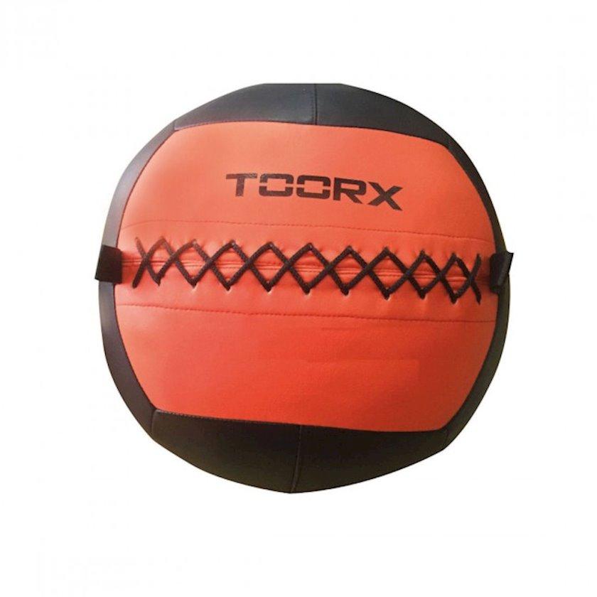 Fitbol Toorx Wall Ball, 35 sm, 12 kq, qara/narıncı