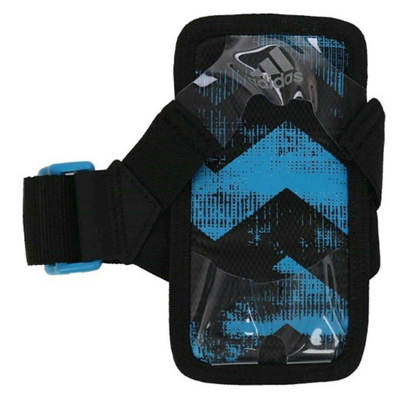 Əl üçün smartfon çexolu ADIDAS Run Mobile Holder Arm Band Pouch Sacks, uniseks, qara/göy
