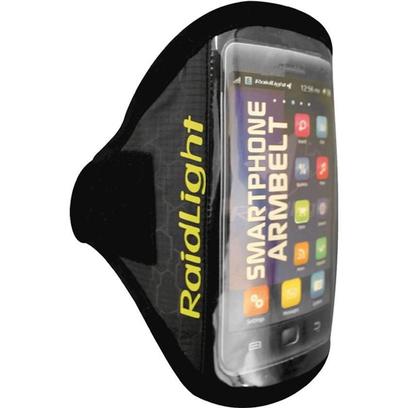 Smartfon çexolu RAIDLIGHT SMARTPHONE ARM BELT, idman üçün, qola taxılan, uniseks, qara