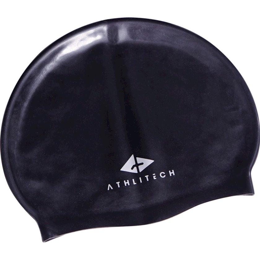 Üzmək üçün papaq Athli-Tech Silicone Go Jr Black 1269387, Uşaq üçün/Oğlan üçün, Qara