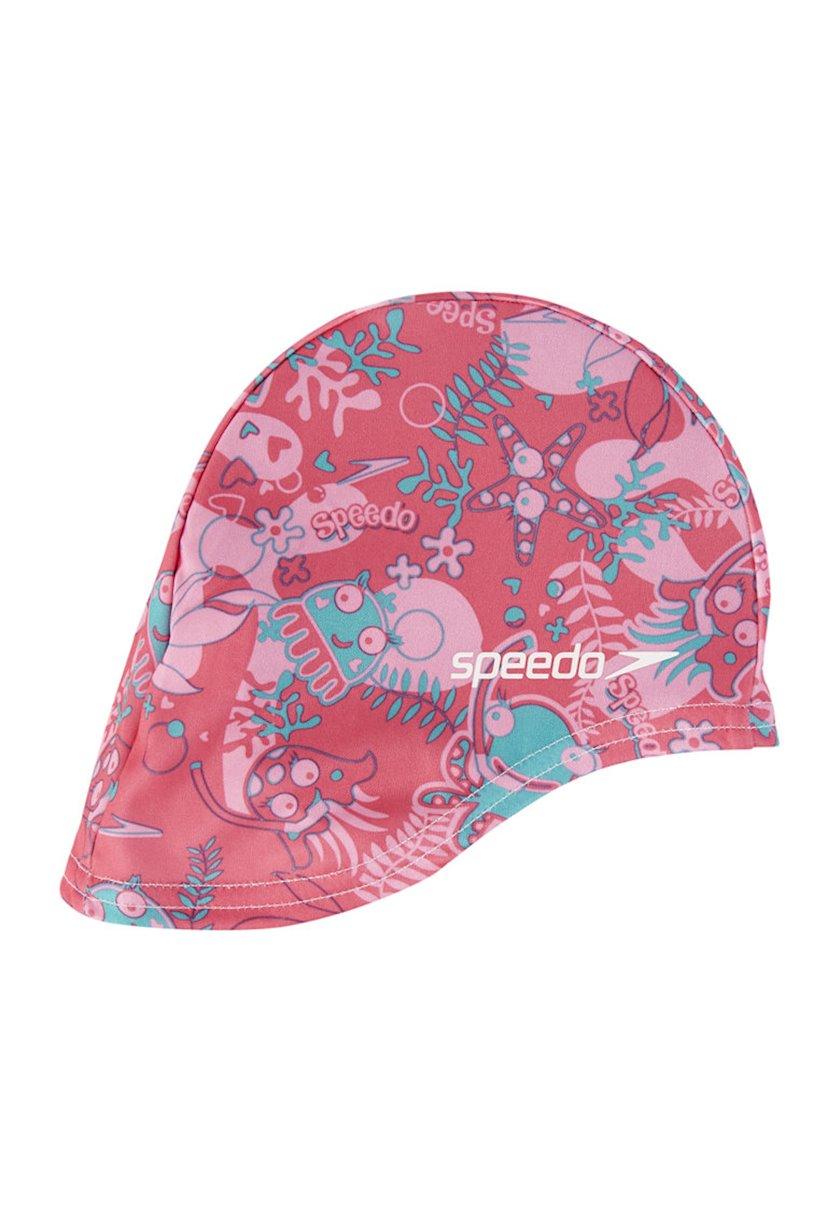Üzmək üçün papaq Speedo Sea Squad Polyester Cap Pink 807997B915, Uşaq üçün/Qız üçün, Çəhrayı