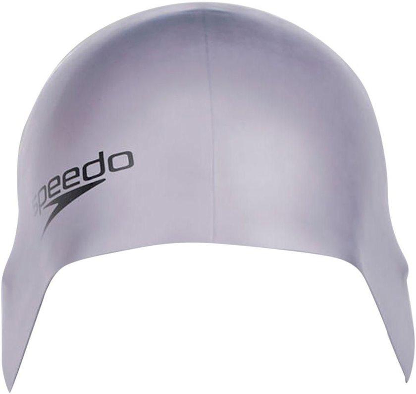 Üzmək üçün papaq Speedo Plain Moulded Silicone Cap Grey 8709849086, Uniseks, Gümüşü, Ölçü universal
