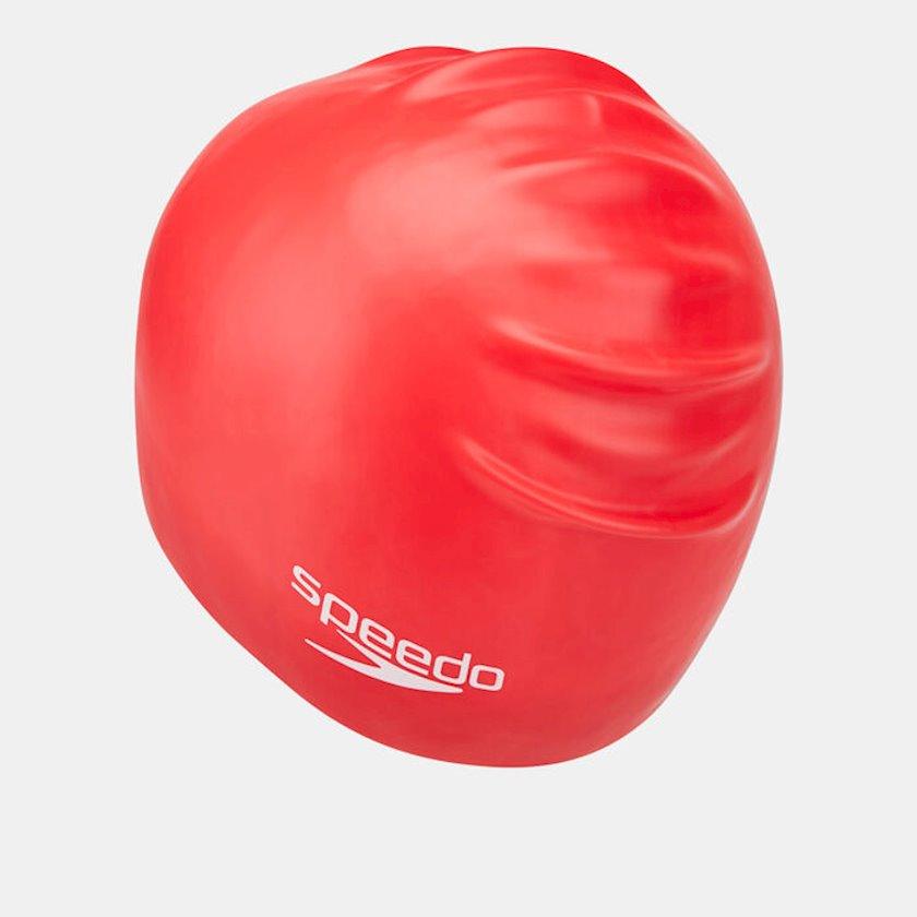 Üzmək üçün papaq Speedo Junior Plain Moulded Silicone Swim Cap,Uşaq üçün/Qızlar üçün, Qırmızı