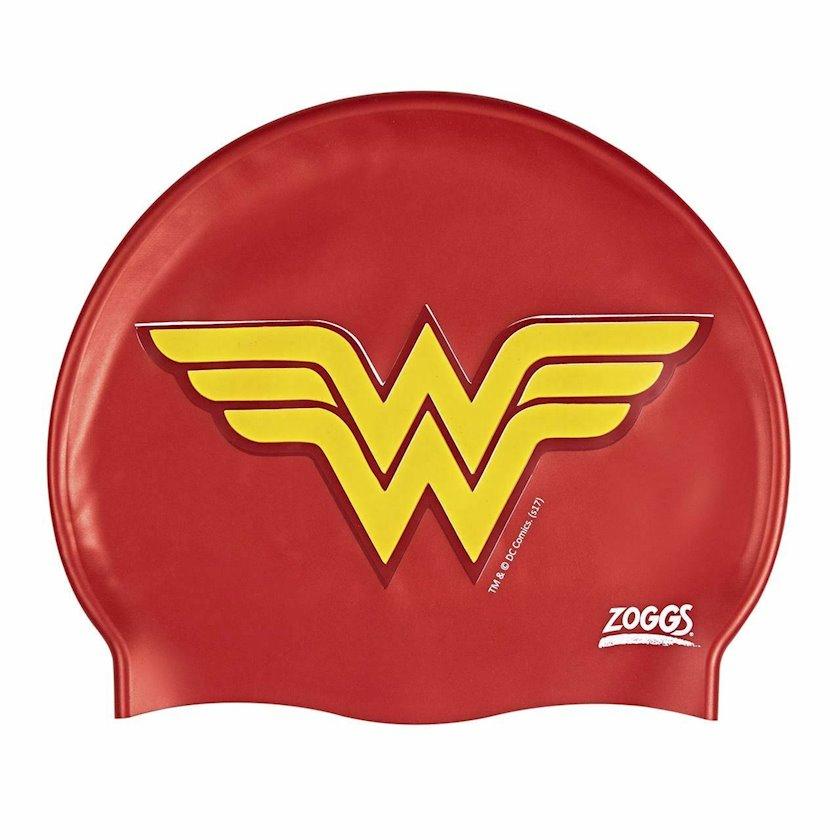 Üzmək üçün papaq Zoggs Wonder Woman Silicone Cap Red Z02382408, Uşaq üçün/Qız üçün, Qırmızı