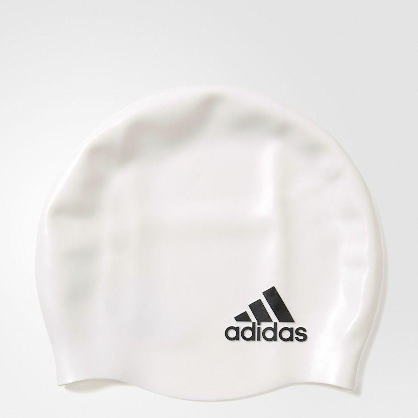 Üzmək üçün papaq Adidas Sil CP Logo 1Pc White 802315, Uniseks, Ağ, Ölçü universal