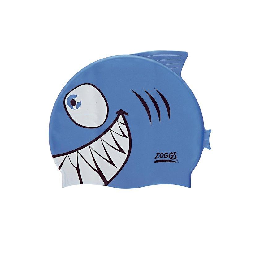 Üzmək üçün papaq Zoggs Junior Character Silicone Cap - Blue Jaws Z02301732, uşaq üçün/oğlan üçün, mavi