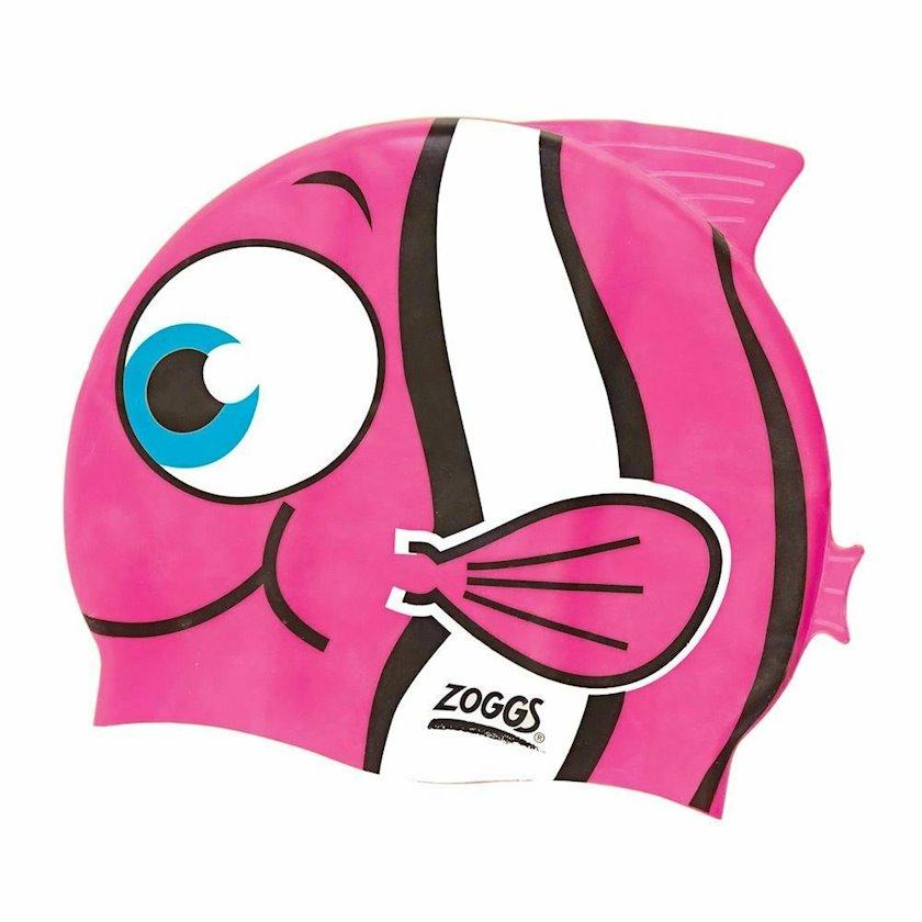Üzmək üçün papaq Zoggs Childrens Silicone Swimming Cap - Pink Goldfish Z02302731, uşaq üçün/qız üçün, çəhrayı, ölçü universal