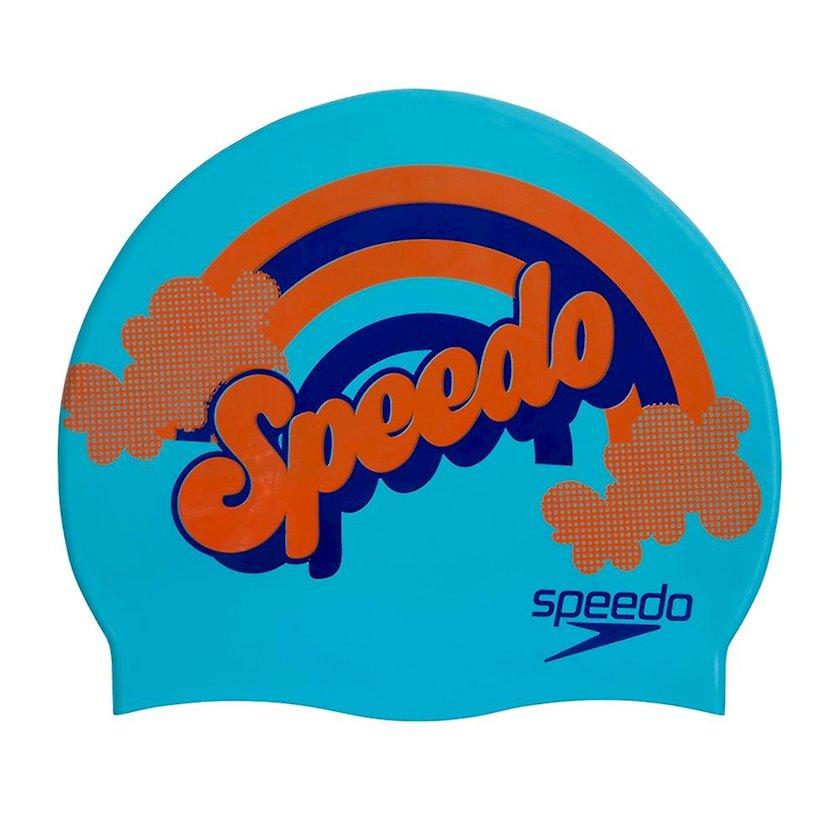 Üzmək üçün papaq Speedo  JUNIOR SLOGAN PRINT CAP 8-08386C700, uşaq üçün, göy, ölçü universal