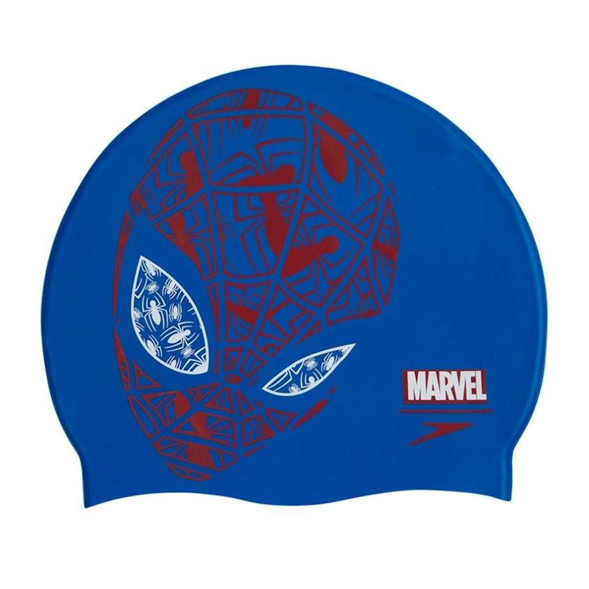 Üzmək üçün papaq Speedo Marvel Spiderman Slogan Print Kids Swimming Cap 8-08386C842, uşaq üçün, göy-qırmızı, ölçü universal
