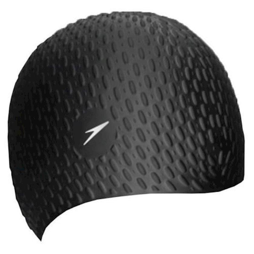 Üzmək üçün papaq Speedo Bubble Cap - Black 8-709290001, uniseks, qara, ölçü universal