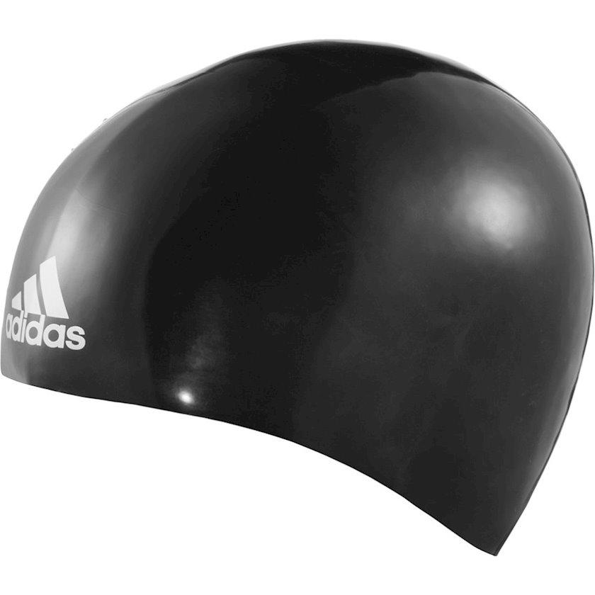 Üzmək üçün papaq Adidas Moulded Silicone 3D Swim Cap Black Medium NEW M34112, uniseks, qara, ölçü M
