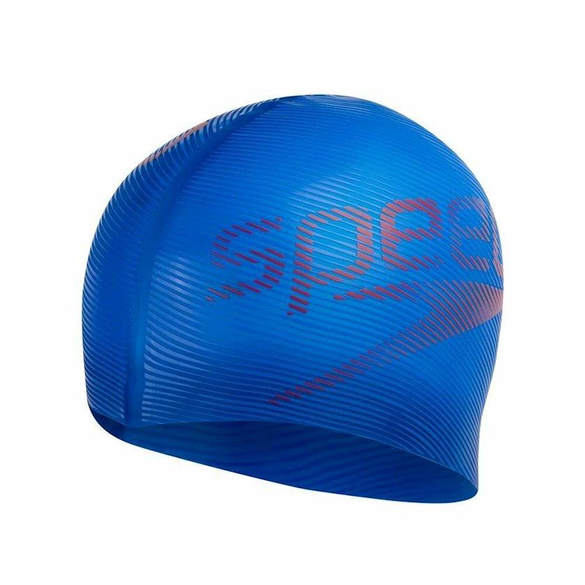 Üzmək üçün papaq Speedo Slogan Print Cap - Silicone Swimming Hat - Blue 8-08385D683, uniseks, göy-qırmızı, ölçü universal