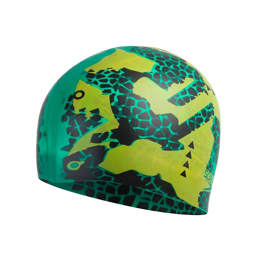 Üzmək üçün papaq Speedo Flipturns Reversable Silicone Swim Cap Adult Hat Green-Yellow 811301D682, uniseks, yaşıl-sarı, ölçü universal