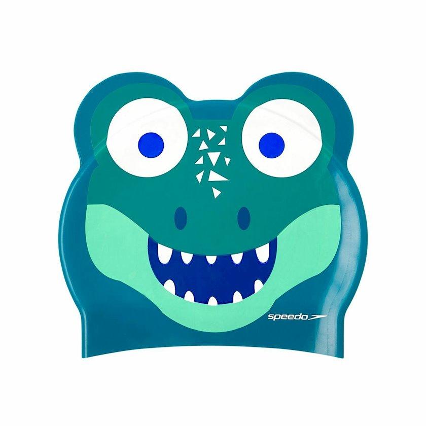 Üzmək üçün papaq Speedo Junior Croc Printed Character Cap - Silicone Swimming Hat 8-12240D680, uşaqlar üçün, göy-yaşıl, ölçü universal