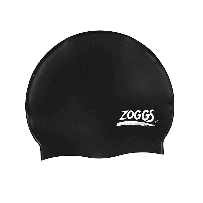 Üzmək üçün papaq Zoggs Silicone Multicolour Swimming Cap Black Z02300771, uniseks, qara, ölçü universal