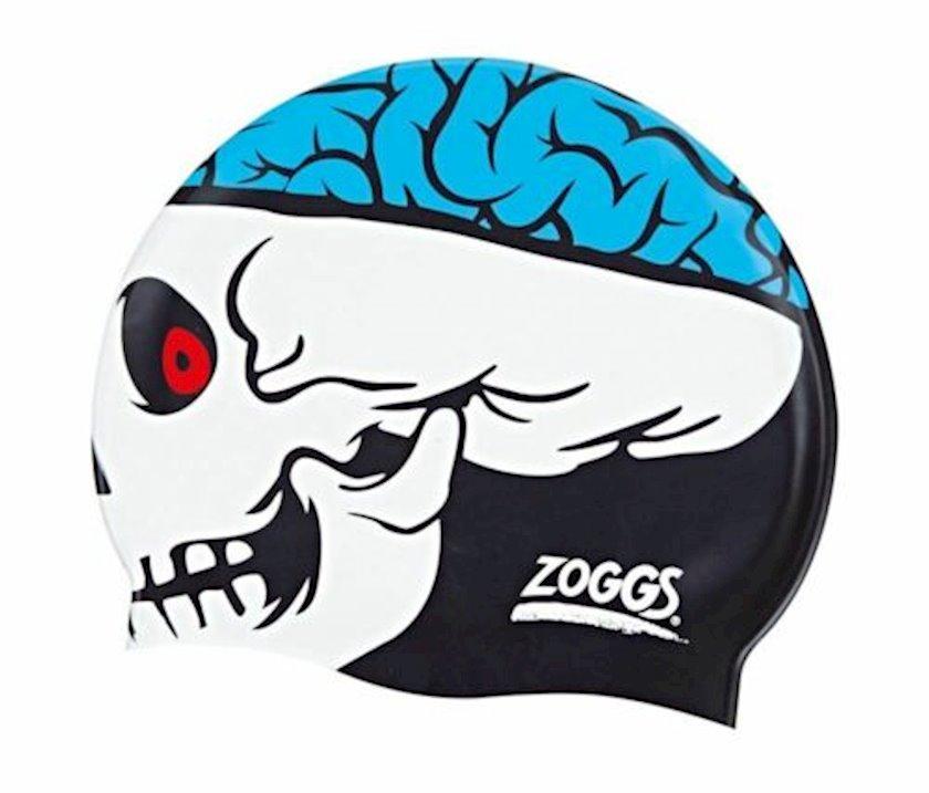 Üzmək üçün papaq Zoggs Junior Character Skull Silicone Cap Silicone Swimming Hat Z02302732, uşaqlar üçün, ölçü universal