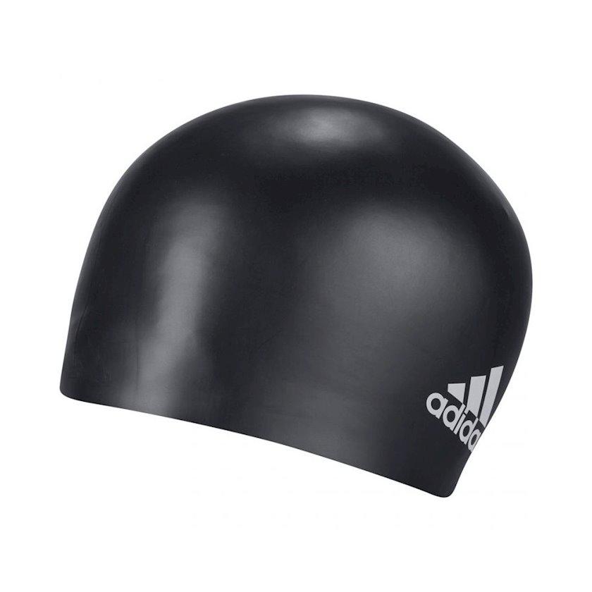 Üzmək üçün papaq Adidas SIL CAP LOGO BLACK-WHITE FJ4964, uniseks, qara-ağ, ölçü universal