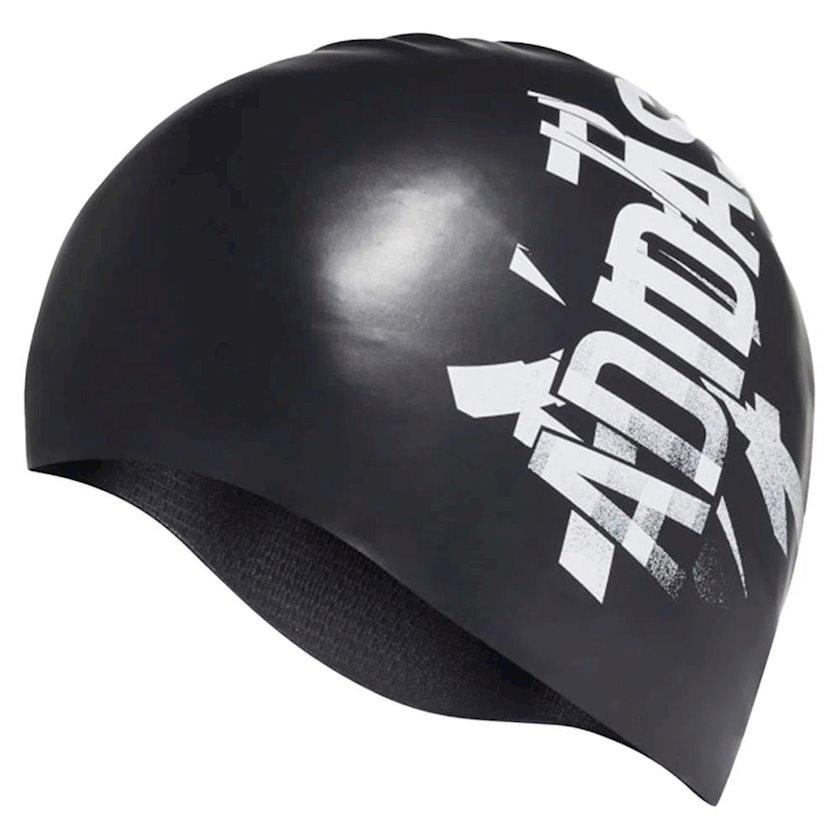 Üzmək üçün papaq Adidas TKY GRAPHIC CAP BLACK-WHITE FT8412, uniseks, qara-ağ, ölçü universal