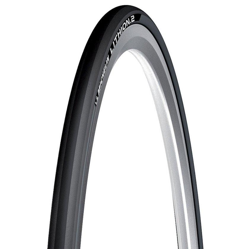 Veloşin Michelin Lithion 2 Foldable Road Bike Tire, boz, 700 x 23C ölçülü