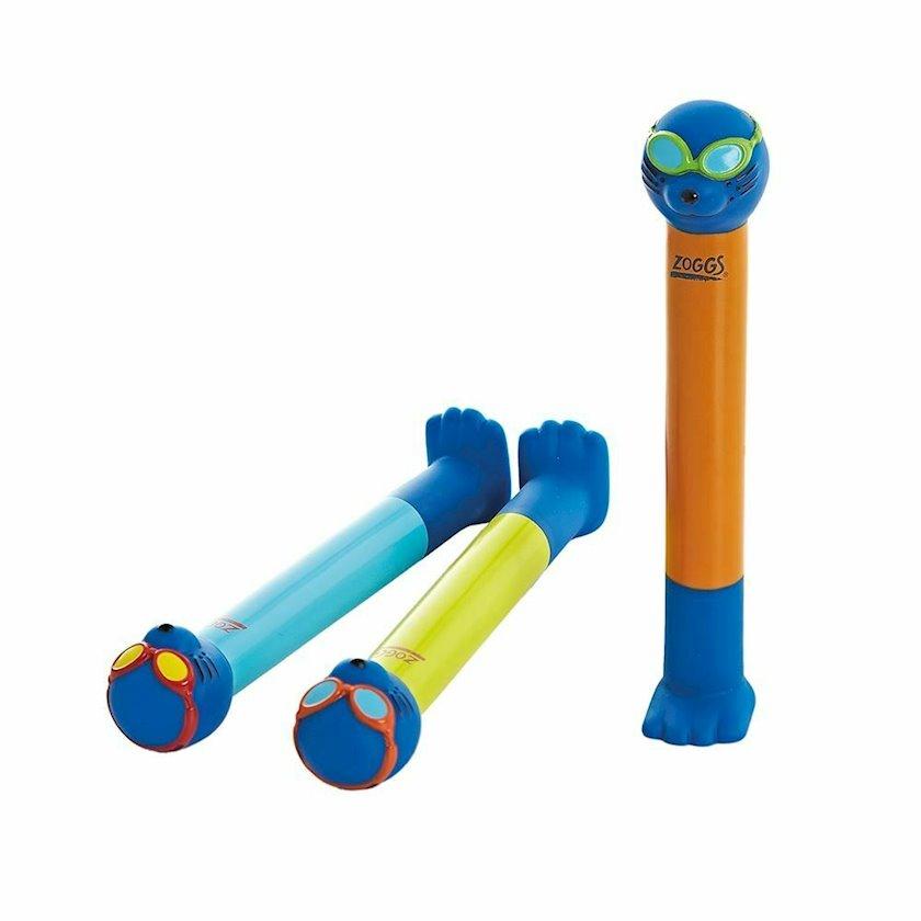 Üzmək aksesuarı Zoggs Zoggy Dive Sticks, uşaqlar üçün, göy/sarı/narıncı
