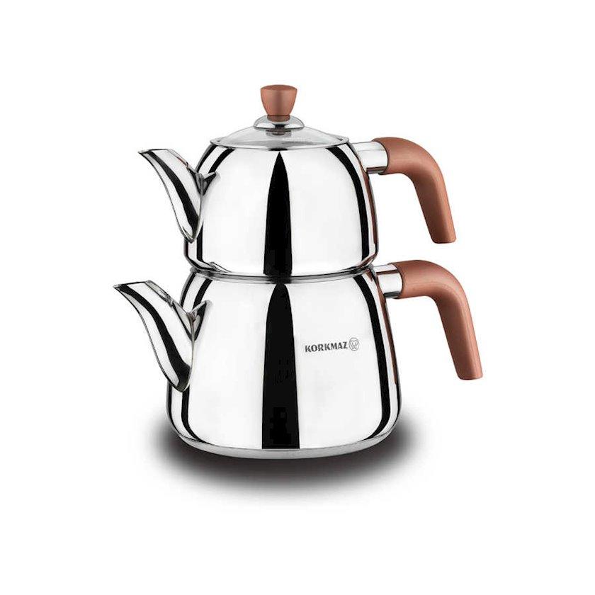 Çaydan dəsti Korkmaz Droppa Maxi A057, Material: paslanmayan polad 18/10