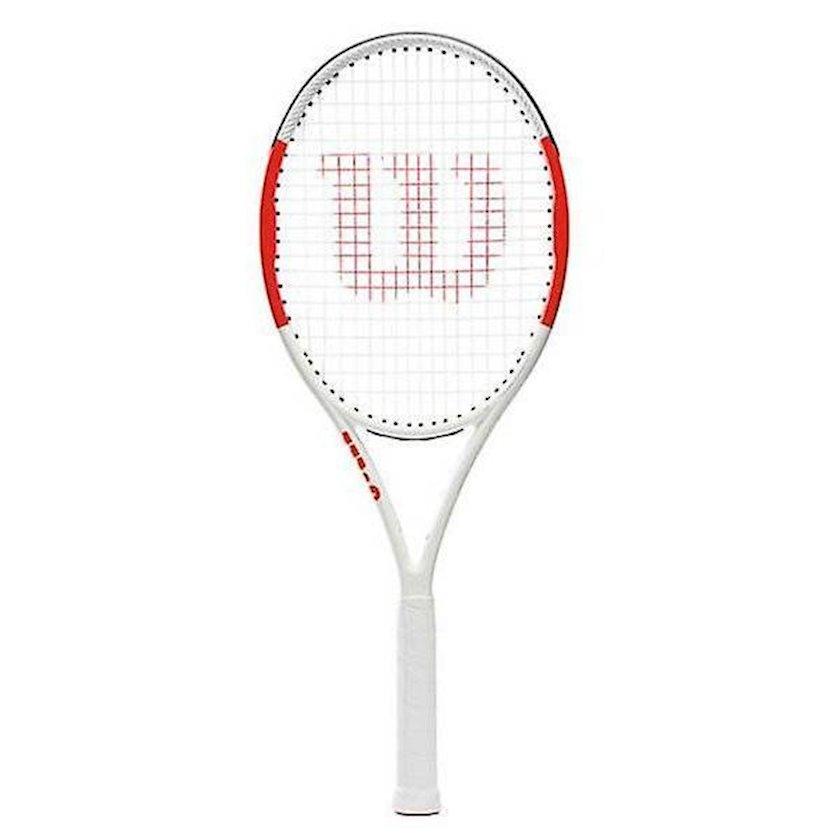 Böyük tennis üçün tennis raketkası Wilson SixOne Lite 102 Size 1, uniseks, ağ/qırmızı, 249 q
