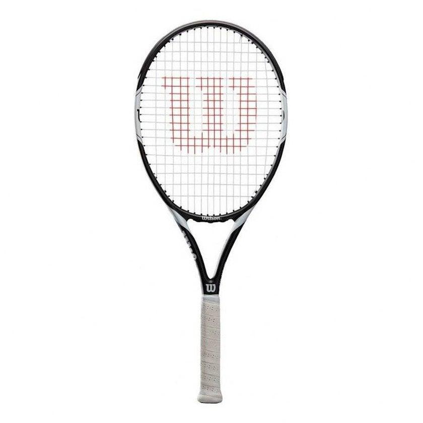 Böyük tennis üçün tennis raketkası Wilson Federer Team 105 TNS/3, uniseks, qrafit, ağ/qara, 290 q