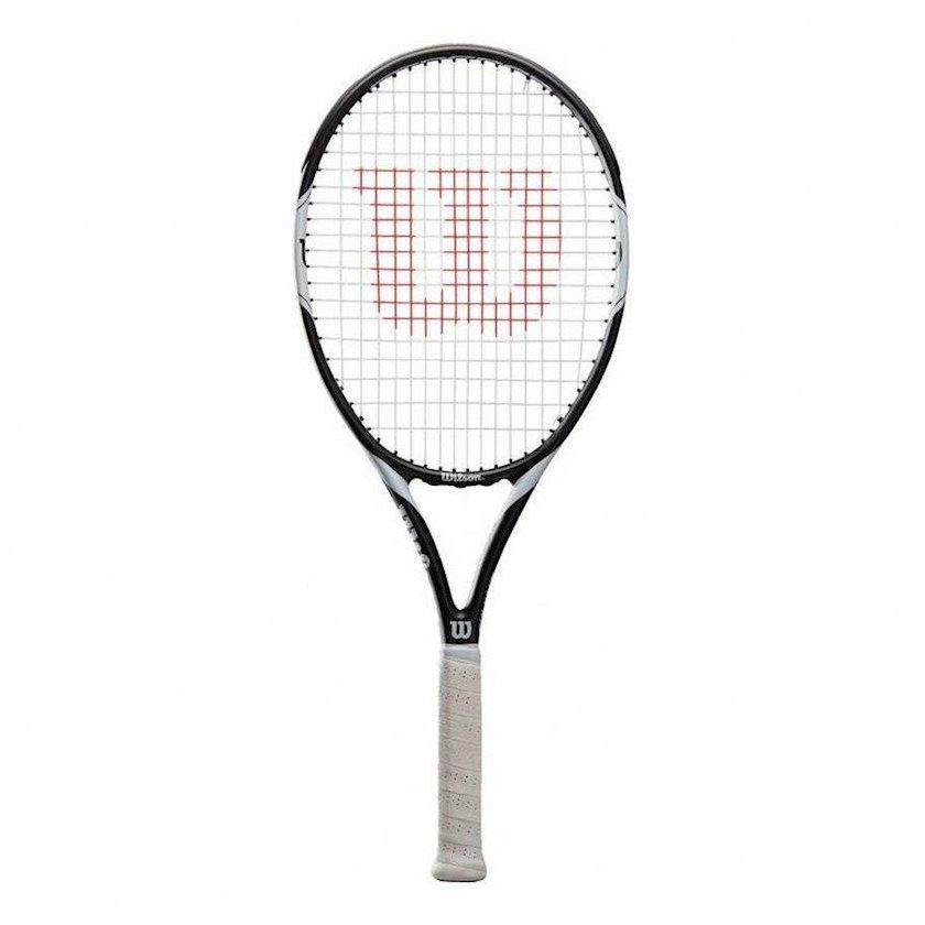 Böyük tennis üçün tennis raketkası Wilson Federer Team 105 TNS/1, uniseks, qrafit, ağ/qara, 290 q