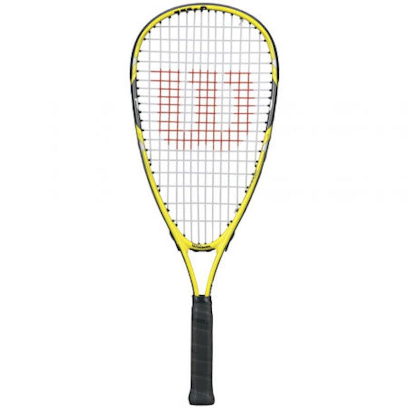 Skvoş raketkası Wilson Ripper Junior Squash Racket (WSQ101), uniseks, alüminium, sarı/qara, 160 q