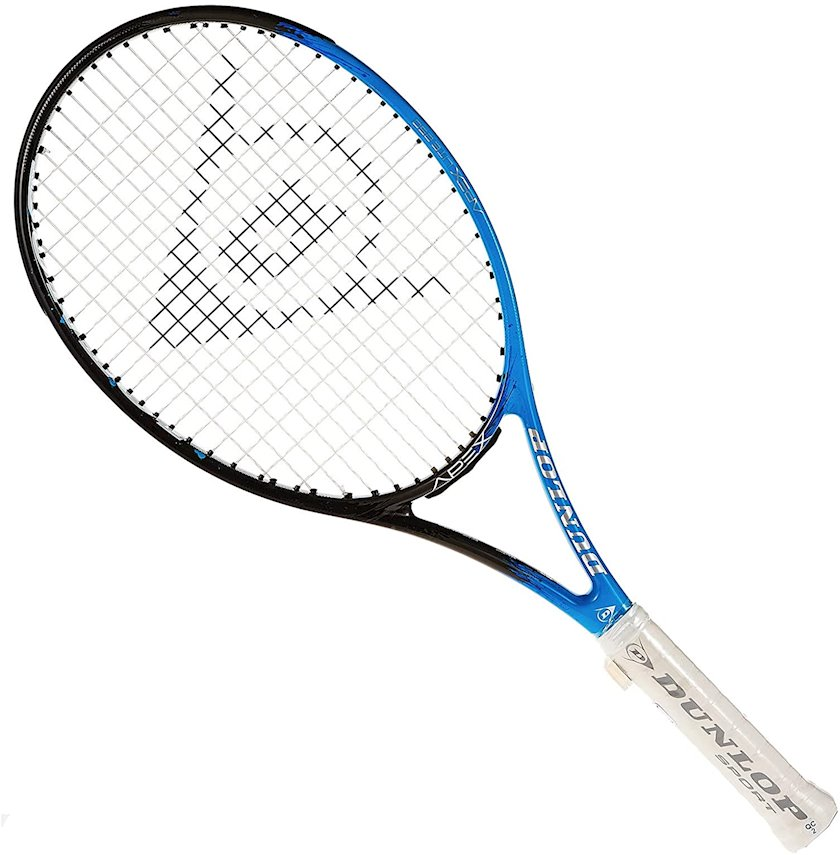 Böyük tennis üçün tennis raketkası Dunlop Apex Lite 250 L2, uniseks, qrafit, göy/qara, 250 q
