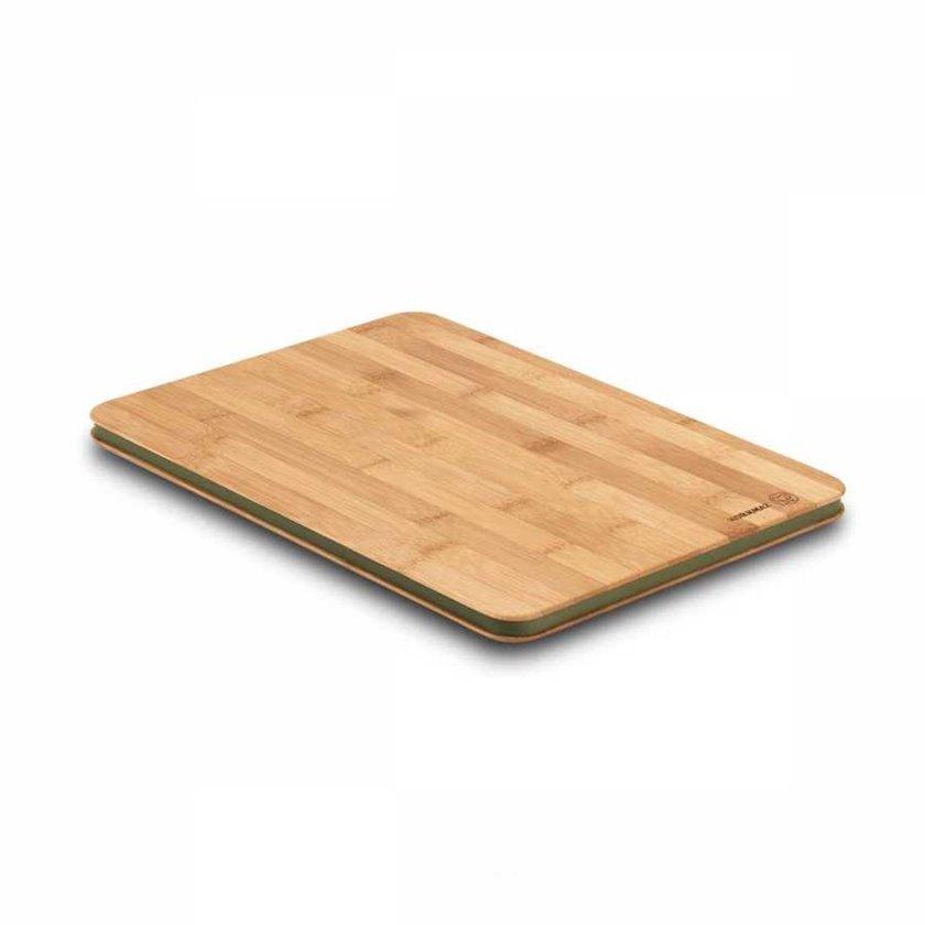 Mətbəx lövhəsi Korkmaz Rattana Maxi A708-01, 35x25x1.5sm, bambuk, silikon