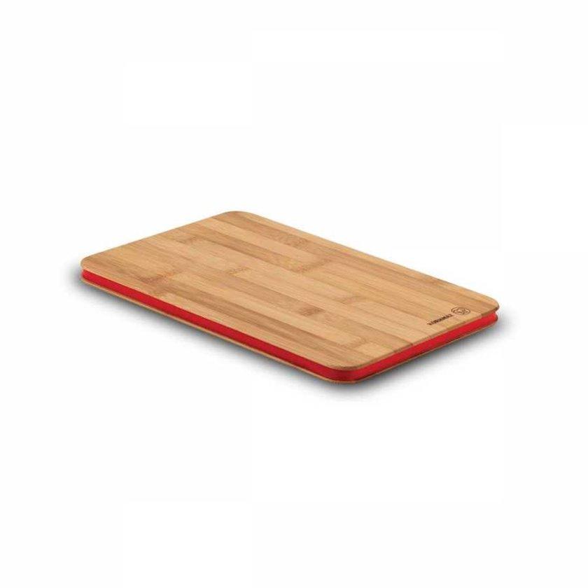 Mətbəx lövhəsi Korkmaz A707 Rattana, 30x20x1.5sm, bambuk, silikon