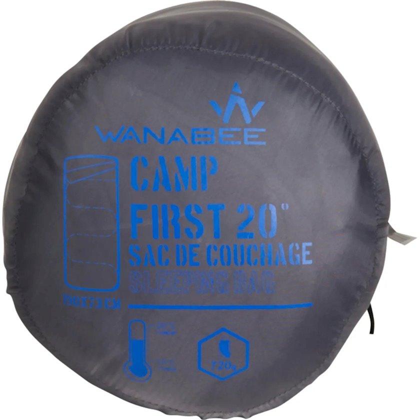 Yuxu torbası Wanabee Camp First 20, Sintetik doldurucu, Mavi, Rahatlıq temperaturu 20 °C, ölçü 190 x 73sm, Çəki 720q
