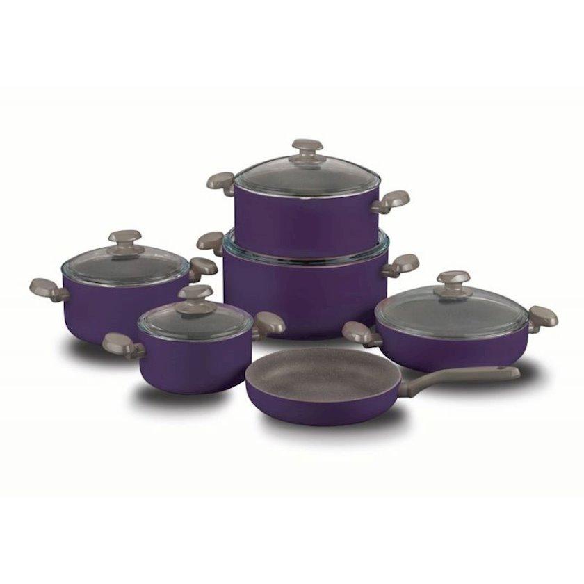 Mətbəx dəsti Korkmaz Mia Lavender A1558 XL 11 PCS Cookware Material: qranit, Rəng: bənövşəyi