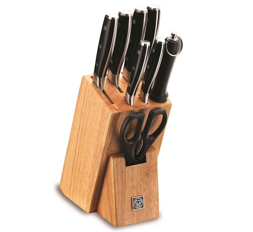 Bıçaq dəsti Korkmaz Multi-Blade A550 9 əşya, Material: paslanmayan polad, plastik, taxta