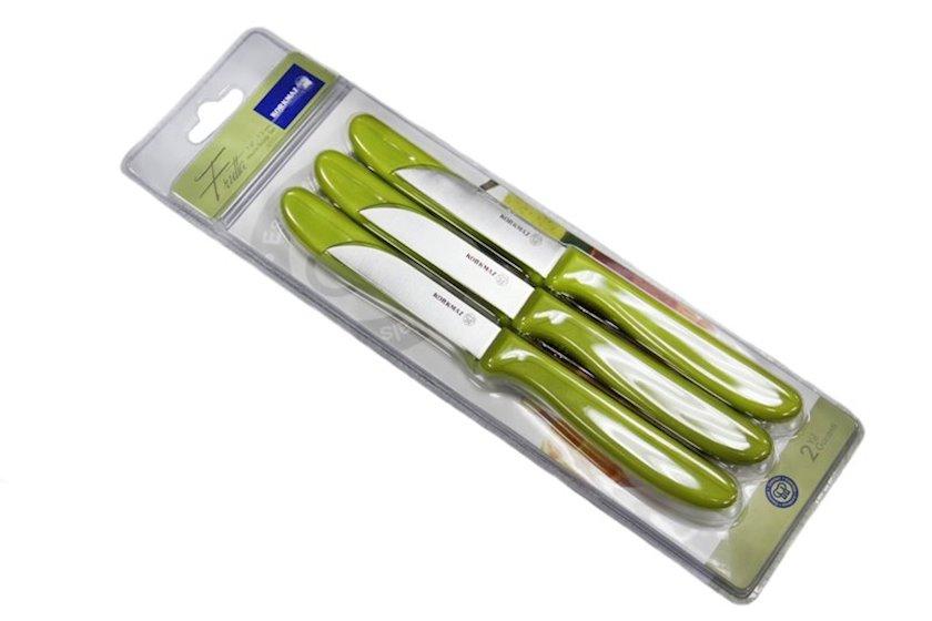 Bıçaq dəsti Korkmaz Frutta A553-01 6 əd., Material: paslanmayan polad, plastik, Rəng: yaşıl