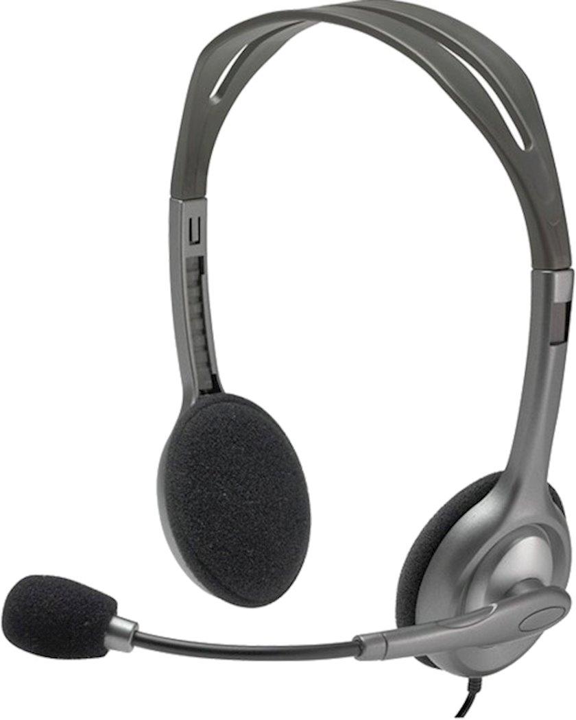 Qulaqlıq-qarnitur Logitech H111 981-000593 Silver