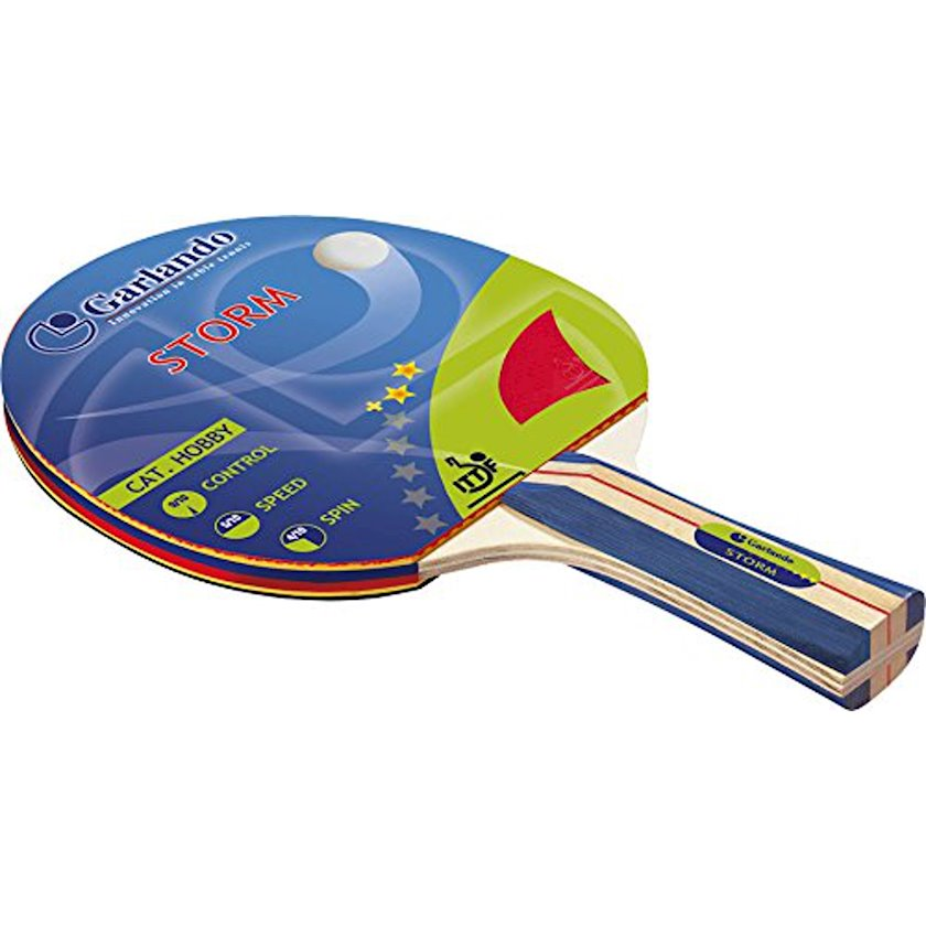 Stolüstü tennis raketkası Garlando Storm Racchetta Ping Pong, 2 stars