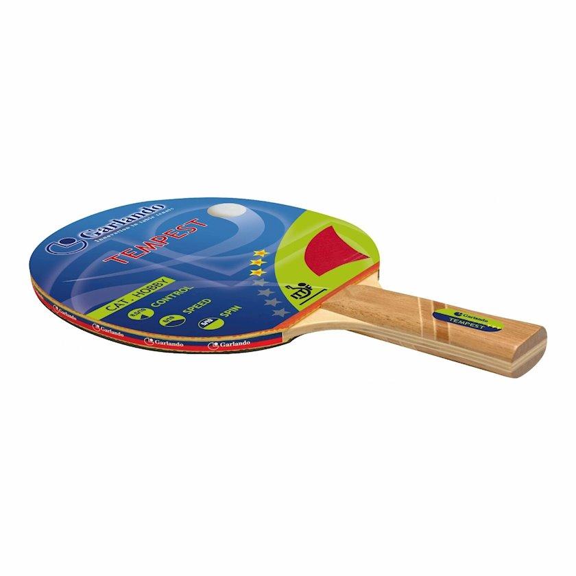 Stolüstü tennis raketkası Garlando Tempest Racchetta Ping Pong, 3 stars