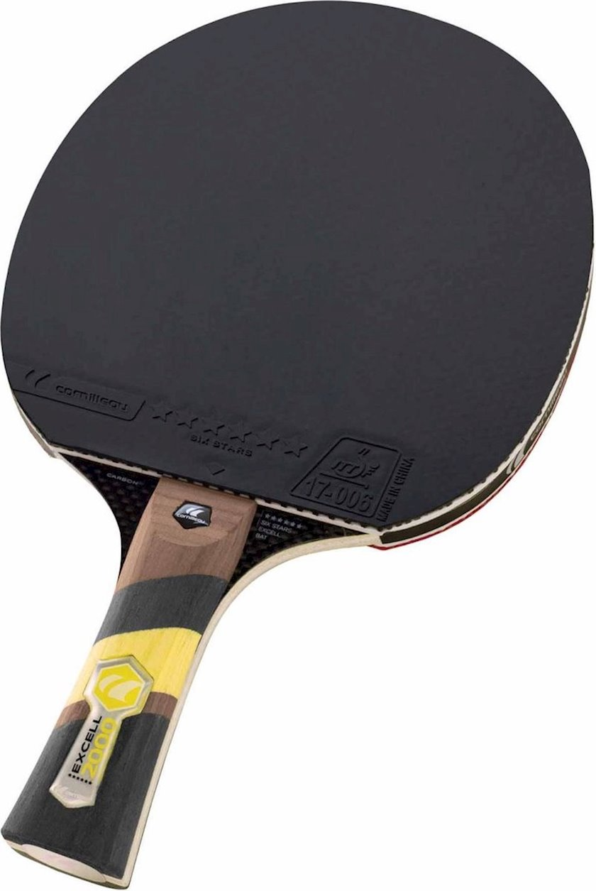 Stolüstü tennis raketkası Cornilleau Excell Carbon 2000, 6 stars