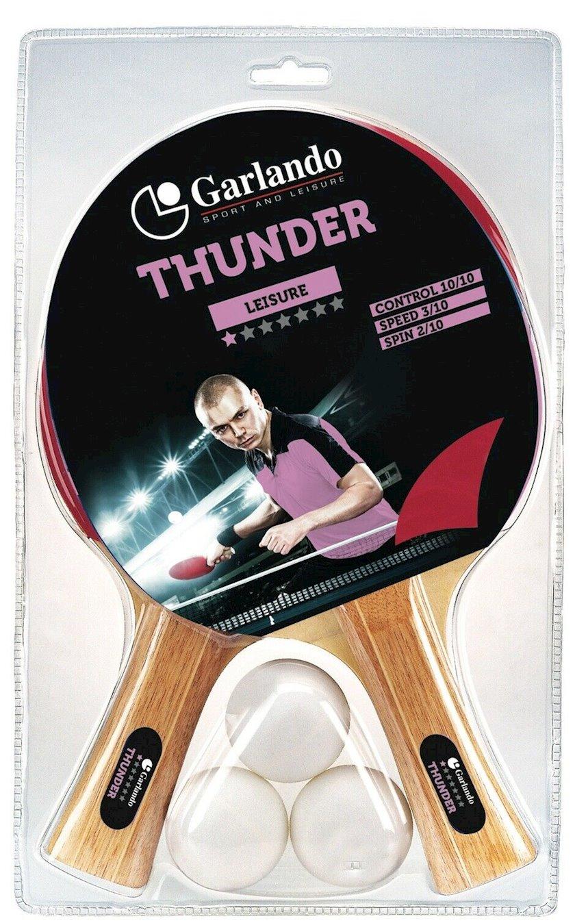 Stolüstü tennis üçün dəst Garlando Set Thunder, 2 raketka+3 top, 1 star