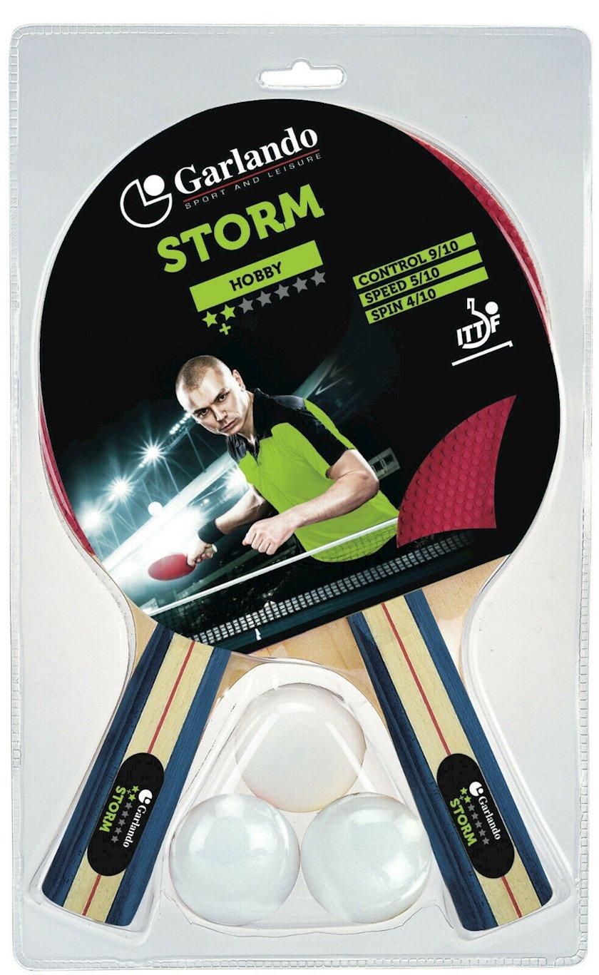 Stolüstü tennis üçün dəst Garlando Set Storm, 2 raketka+3 top+, 2 stars