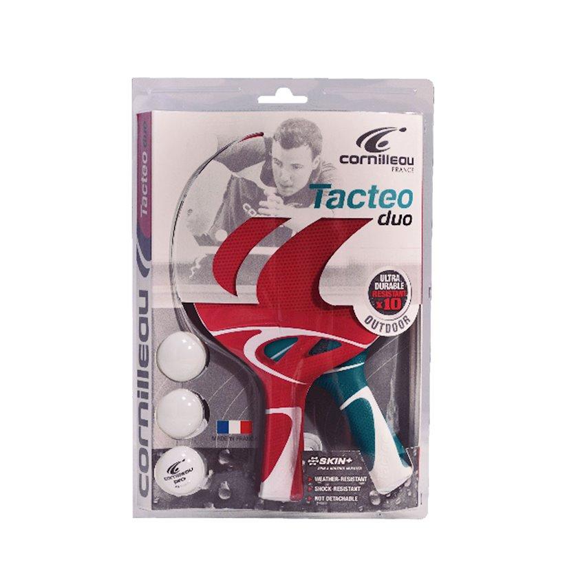Stolüstü tennis üçün dəst Cornilleau Tacteo Pack Duo, 2 raketka+3 top, 2 stars