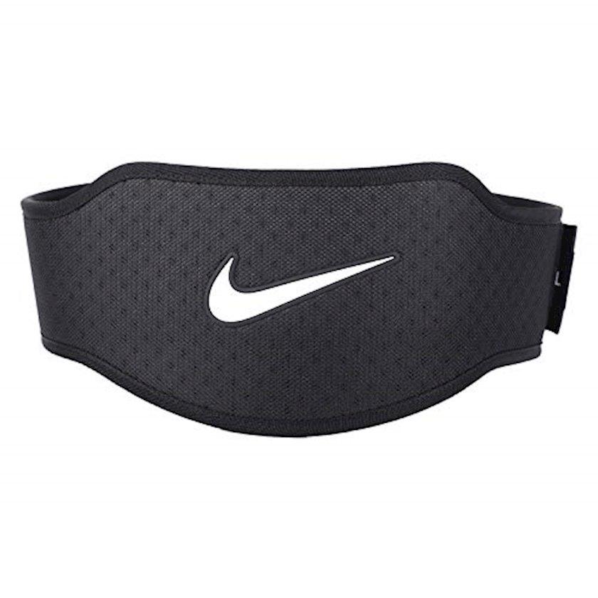 Fitness kəməri Nike Strength Training Belt 3.0, Uniseks, Polyester/Neylon, Qara/Ağ, Ölçü-M
