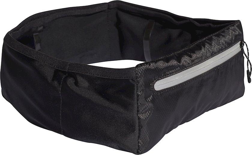 Bel idman çantası Adidas Run Belt Plus CF5233, uniseks, qara, 9sm x 80sm