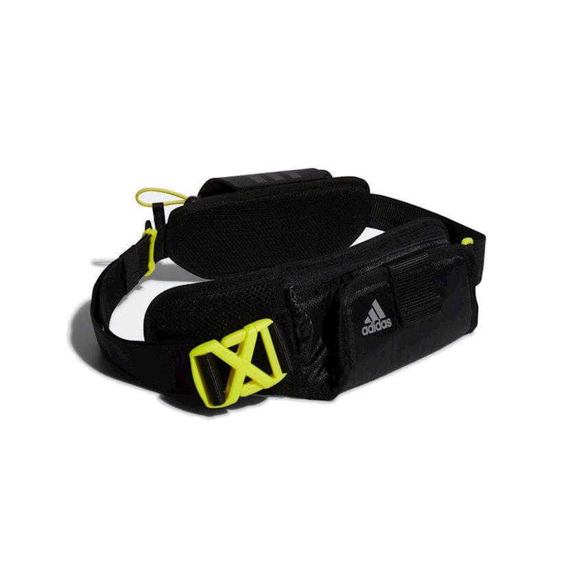 Bel idman çantası butulkalar üçün Adidas Run Bottle Bag CZ3666, uniseks, qara, 9sm x 66sm