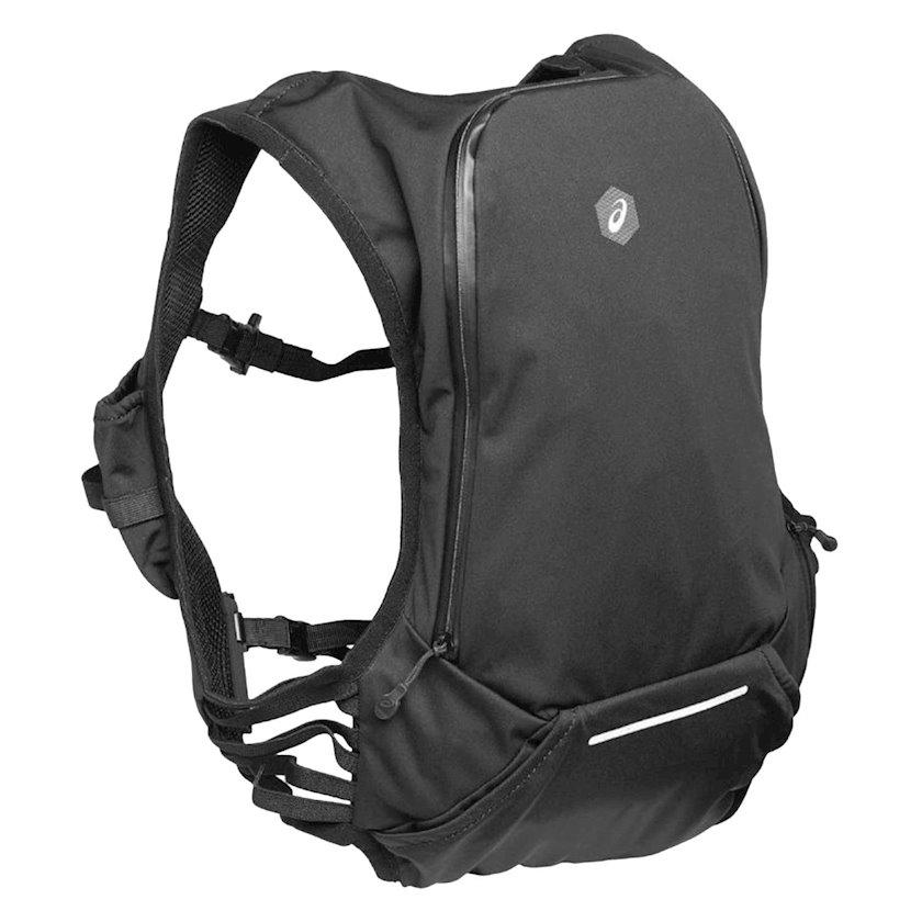 Bel çantası Asics Pro Hydration Vest, içmək sistemı ilə, uniseks, qara, həcmi 10l