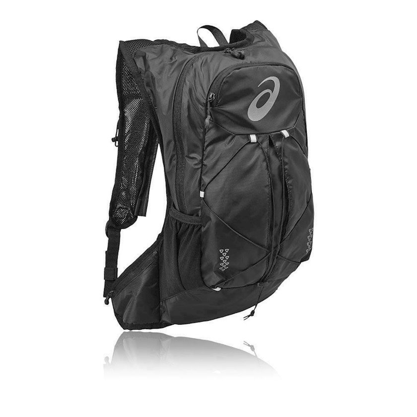 Bel çantası Asics Lightweight Running Backpack 131847-0946, uniseks, qara, həcmi 10l